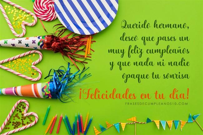 Frases De Cumpleaños Para Un Hermano 150 Mensajes