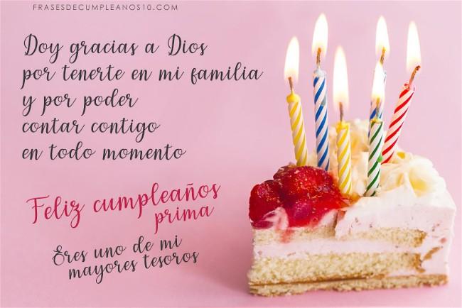 Frases De Cumpleaños Para Una Prima 150 Mensajes2019