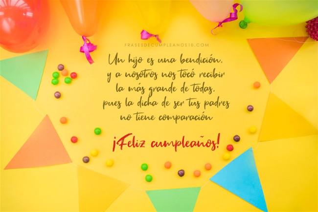Frases De Cumpleaños Para Un Hijo 150 Mensajes2019
