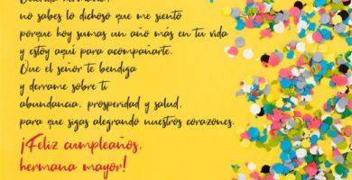 Frases De Cumpleaños Para Una Hermana 150 Mensajes