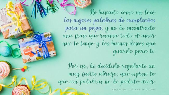 Frases De Cumpleaños Para Un Papá 150 Mensajes2019