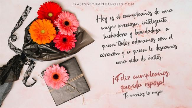 ▷ Frases de cumpleaños para una ESPOSA 🧡 +150 Mensajes【2019】
