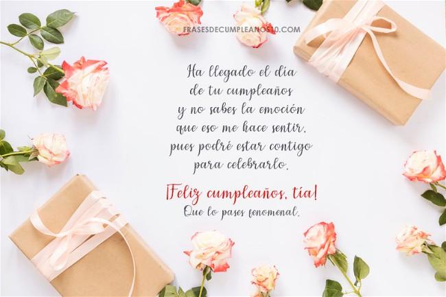 Frases De Cumpleaños Para Una Tía 150 Mensajes2019